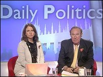 Jo Coburn and Andrew Neil