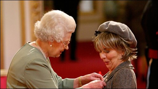 Sue Johnston receives her OBE