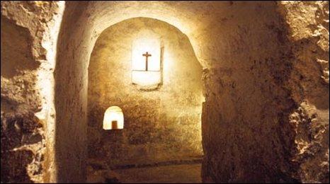 St Wilfrid's crypt. Photo courtesy of Bernard J Muir, University of Melbourne