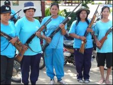 Women with guns in southern Thailand