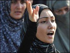 Pakistani women protest - file pic