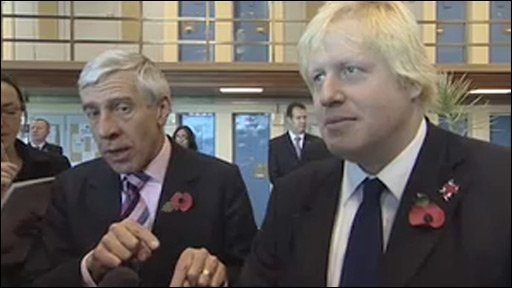 Justice Secretary Jack Straw and London Mayor Boris Johnson