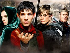Cast of Merlin on BBC TV