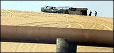 Barrier at Saudi border