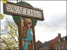 Swaffham town sign