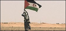 Sahrwari independence supporter in Western Sahara