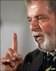 Brazil's President Lula in London, 5 November 2009
