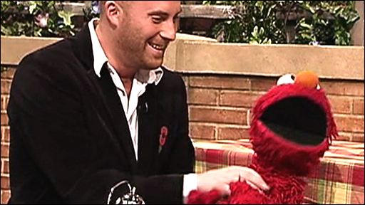 Matthew Stadlen and Elmo