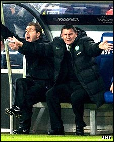 Peter Grant (l) and Tony Mowbray