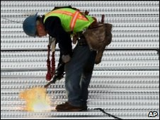 Construction worker in California