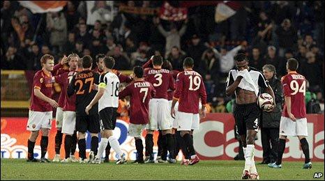 Fulham endured a harsh night in the Stadio Olimpico