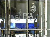 Entrance to the FSA offices, Canary Wharf