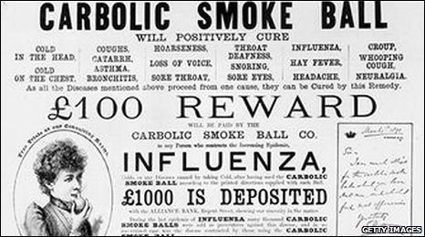 print advert for the carbolic smoke ball