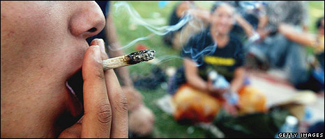 Person smoking cannabis