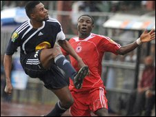 Champions League action between TP Mazembe and Heartland