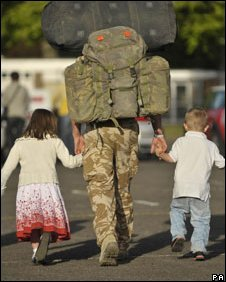 Solder returning home