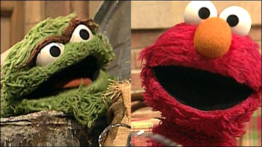 Matthew Stadlen and Elmo