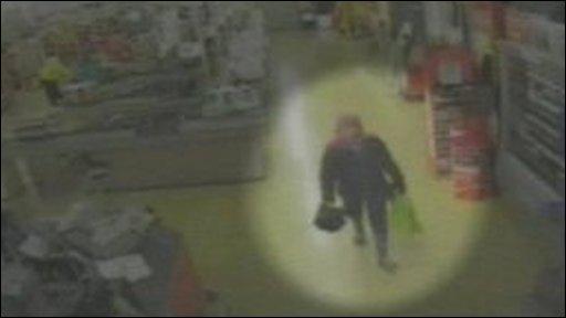 CCTV footage of Lukasz Reszpondek