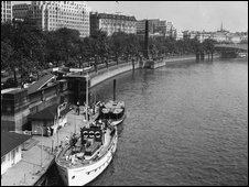 The Thames Embankment in 1958