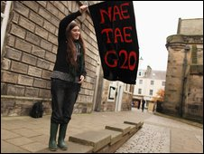G20 protester in St Andrews