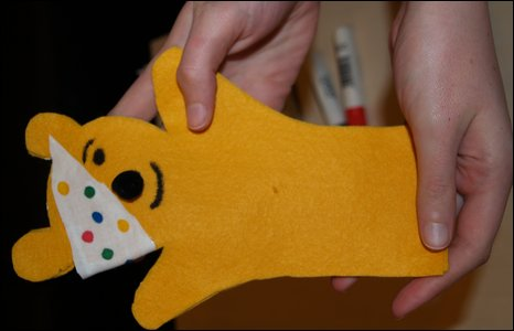 Pudsey hand puppet is complete