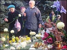 Mourners at Nyiregyhaza