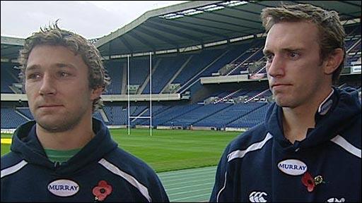 Scotland captains Chris Cusiter and Mike Blair
