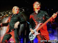 Duran Duran singer Simon Le Bon (left) and bassist John Taylor