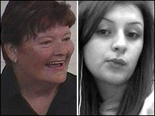 Victims Pauline Adams (l) and Shannon Vickers