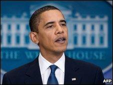 President Barack Obama in Washington on 5 November, 2009