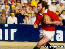Ray Gravell playing for the British Lions in South Africa in 1980