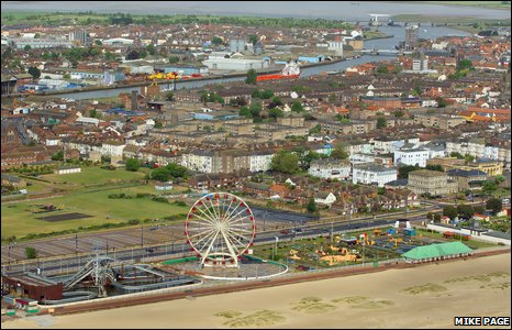 Aerial photo of Great Yarmouth