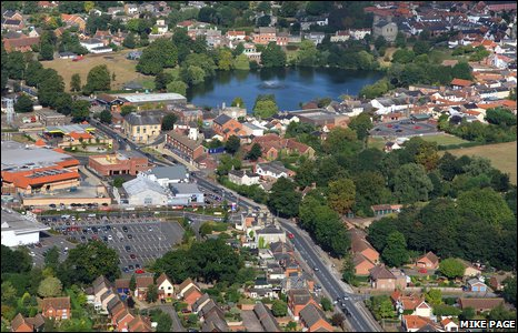 Aerial photo of Diss (Photo: Mike Page)