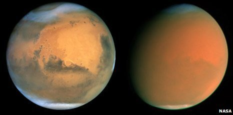Mars duststorm (Nasa)