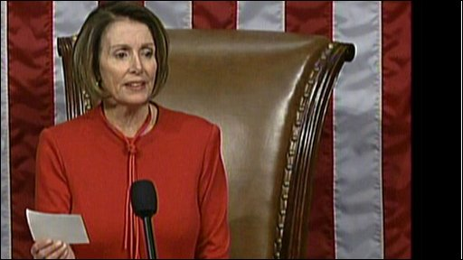US House of Representatives speaker Nancy Pelosi