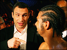 Vitali Klitschko and David Haye