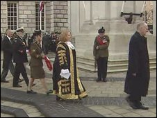 Ceremony at Belfast City Hall