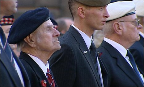 War veterans in Edinburgh