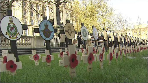 Poppies and crosses