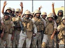 Saudi forces near the Yemen border
