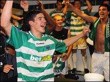 Northwich goalscoring hero Wayne Riley