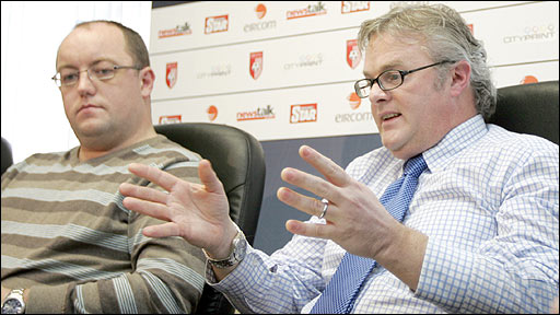 Derry City chairman Pat McDaid and club solicitor Des Doherty