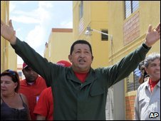 Hugo Chavez in Acarigua, photo 8 November