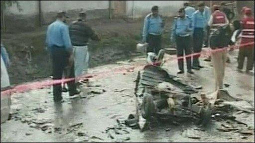 Peshawar bomb aftermath