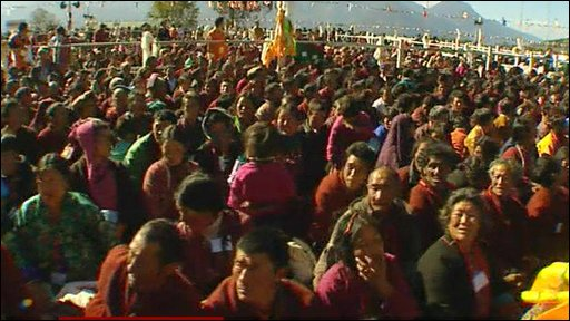 Devotees in Tawang