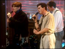 Paul Heaton, left, and Dave Hemingway, in 1989The Beautiful South in 1989