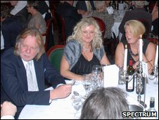 Rick Wakeman and Mary Simpson, CEO of Spectrum