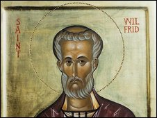 Icon of St Wilfrid. Image courtesy of aidanharticons.com