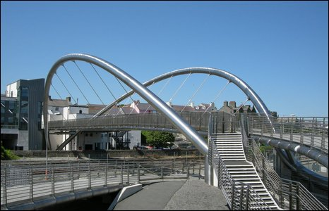 Holyhead's Celtic Gateway bridge
