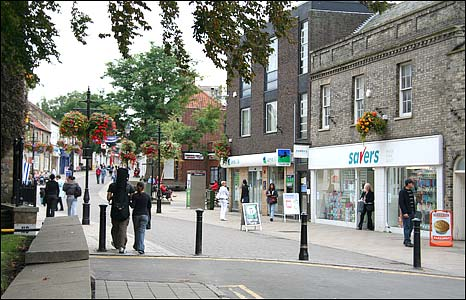 Town centre alongside its shopping streets thetford is steeped in